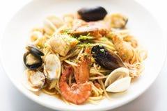 Блюдо макаронных изделий морепродуктов Стоковые Фотографии RF