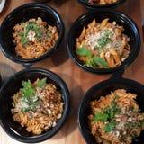 Блюдо макаронных изделий Fusili Стоковое Изображение