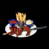 Блюдо нервюр еды и фасолей Стоковое Изображение RF