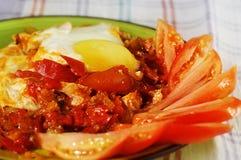 Блюдо овощей и яичек Стоковые Изображения
