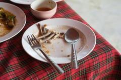 Блюдо отделки после ест Стоковая Фотография RF