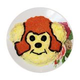 Блюдо при изолированная обезьяна Стоковые Фото