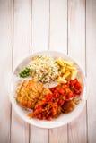 Блюдо рыб - зажаренная рыба с рисом Стоковое Изображение RF