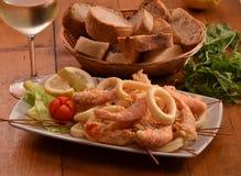 Блюдо салата моря стоковые фотографии rf