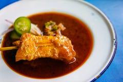Блюдо свинины satay Стоковая Фотография RF