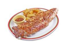 Блюдо свиной отбивной Стоковое Изображение