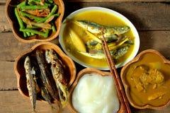 Блюдо соотечественника Ambuyat - Брунея стоковое изображение rf