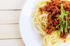 Блюдо спагетти макаронных изделий Стоковая Фотография RF