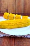 Блюдо с кипеть corns Стоковые Фотографии RF