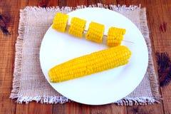 Блюдо с кипеть corns Стоковая Фотография RF
