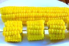 Блюдо с кипеть corns Стоковые Изображения RF