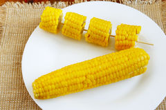 Блюдо с кипеть corns Стоковое Изображение