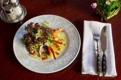 Блюдо с креветкой Стоковые Изображения
