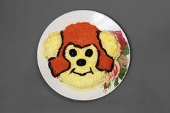 Блюдо с обезьяной Стоковая Фотография
