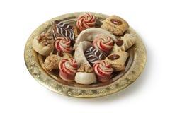 Блюдо с праздничными морокканскими печеньями стоковые изображения rf