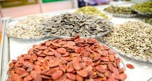 Блюдо с разными видами семян Стоковая Фотография RF