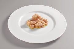 Блюдо с тунцом консервирует часть в оливковом масле Стоковая Фотография