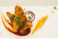 Блюдо филе рыб Стоковые Изображения