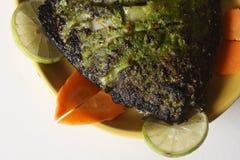 Блюдо фрая a брамы зажаренной рыбы от Goa Стоковые Фотографии RF