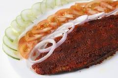 Блюдо фрая a брамы зажаренной рыбы от Goa Стоковое Фото