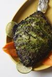 Блюдо фрая a брамы зажаренной рыбы от Goa Стоковая Фотография RF