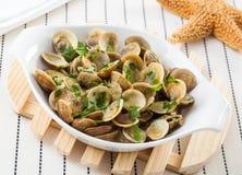 Блюдо clams Стоковое фото RF
