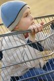вагонетка мальчика Стоковое Изображение RF