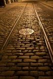 вагонетка следов булыжников старая Стоковое Фото