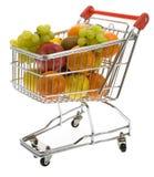 вагонетка супермаркета плодоовощей ходя по магазинам стоковое изображение rf