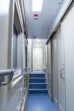 Вагон пассажира двухэтажного автобуса коридора Стоковая Фотография