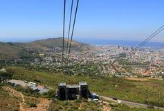 Вагон подвесной дороги горы таблицы, Южной Африки Стоковое фото RF