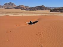 вади рома Иордана дюны Стоковое Изображение