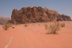 вади рома Иордана пустыни Стоковые Фото