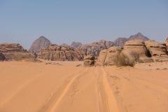 вади рома Иордана пустыни Стоковое Изображение