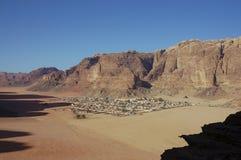вади села рома Иордана бедуина Стоковые Изображения