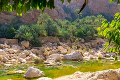 Вади Tiwi - Оман стоковые фото