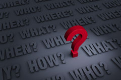 Важные вопросы, который нужно спросить Стоковое фото RF