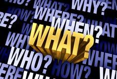 Важный вопрос 'что?' иллюстрация вектора