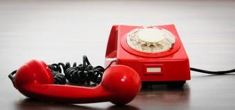 важный красный цвет телефона Стоковая Фотография RF