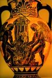 Ваза Афины Греция гончарни реплики ангелов греческая старая Стоковое Изображение RF