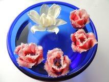 ваза голубых тюльпанов Стоковое Изображение RF