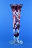 ваза красного цвета граненого стекла Стоковое Изображение