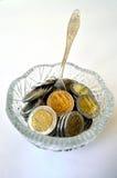 Ваза монетки Стоковые Фото
