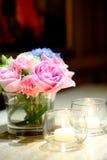 ваза пинка цветка розовая Стоковые Изображения RF