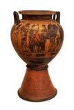 Ваза древнегреческия depicing колесница Стоковые Фото