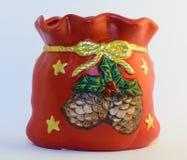 Ваза рождества орнаментальная украшенная Стоковая Фотография RF