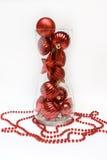 ваза рождества шариков Стоковые Изображения