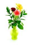 ваза роз букета зеленая Стоковое Изображение RF