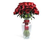 ваза роз букета красная Стоковые Изображения RF
