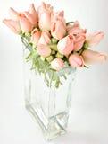 ваза роз букета маленькая розовая Стоковая Фотография